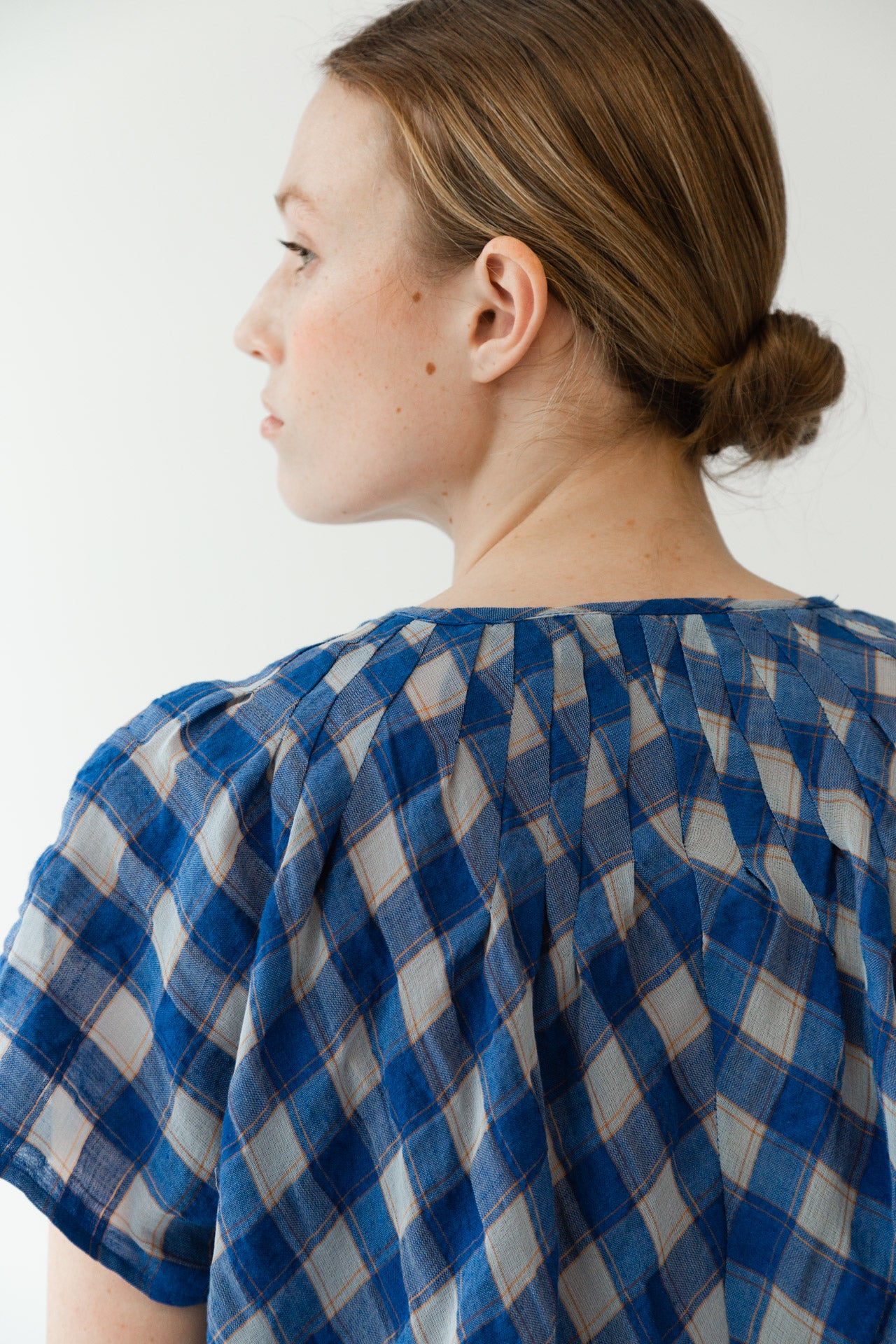 MAARTJE TOP | ROYAL GAUZE PLAID