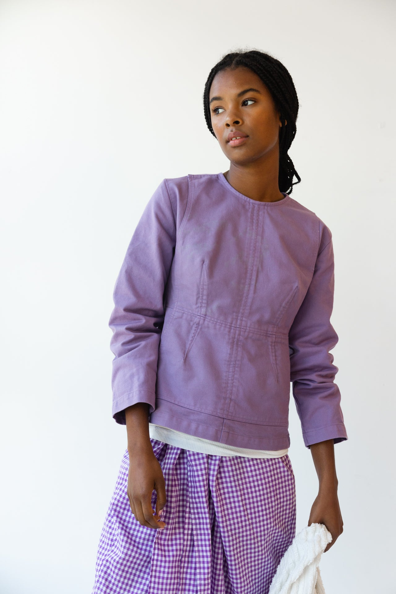 MONICA TOP | LILAC TWILL