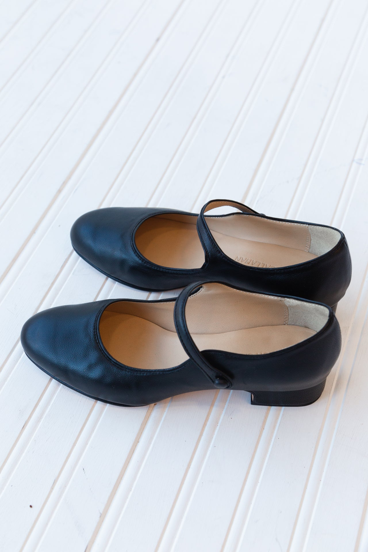 NANCY HEELED MARY JANES | BLACK NAPPA