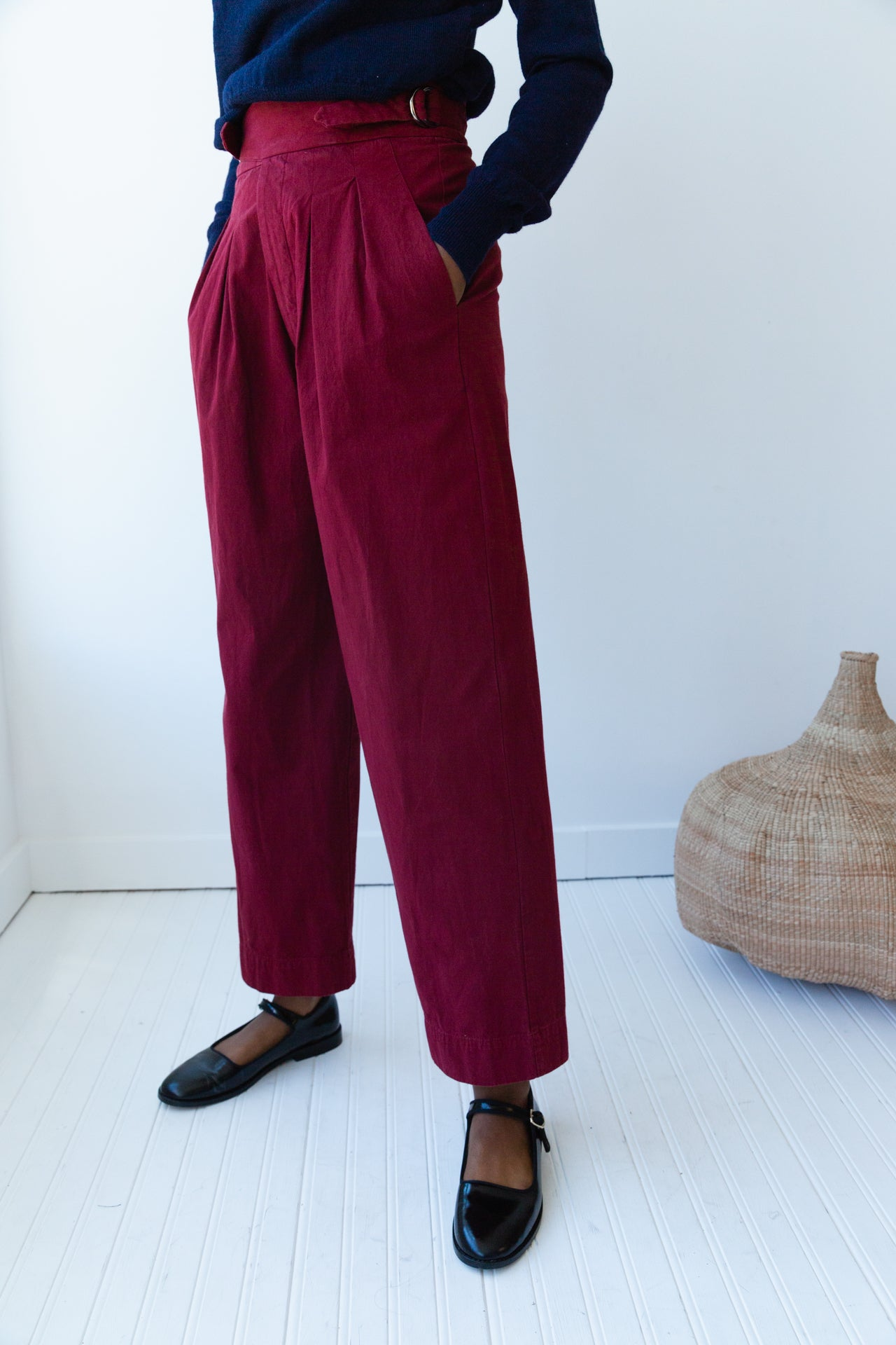 NICKIE PANT | CRANBERRY COTTON