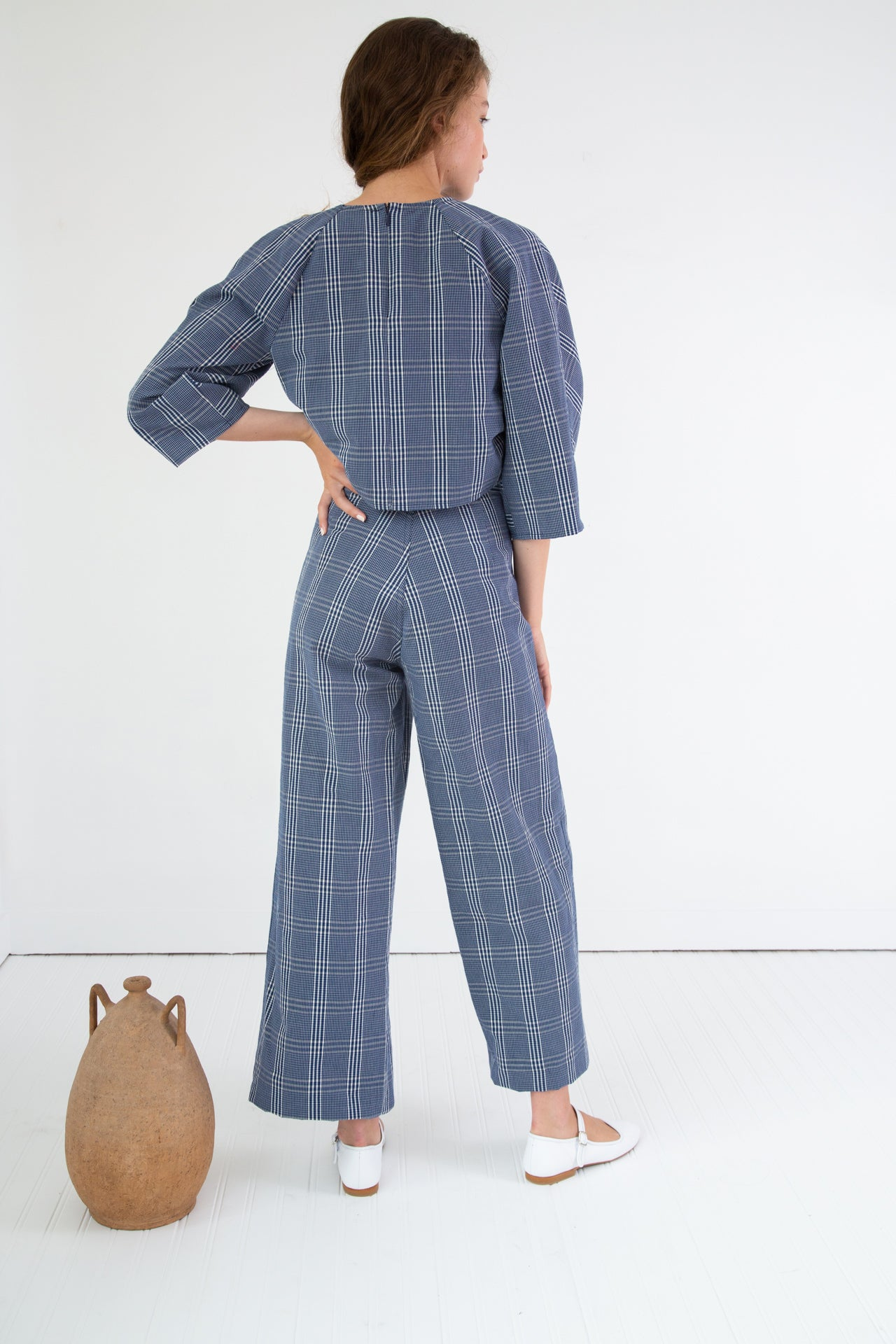 STEWART PANT | NAVY SEERSUCKER PLAID