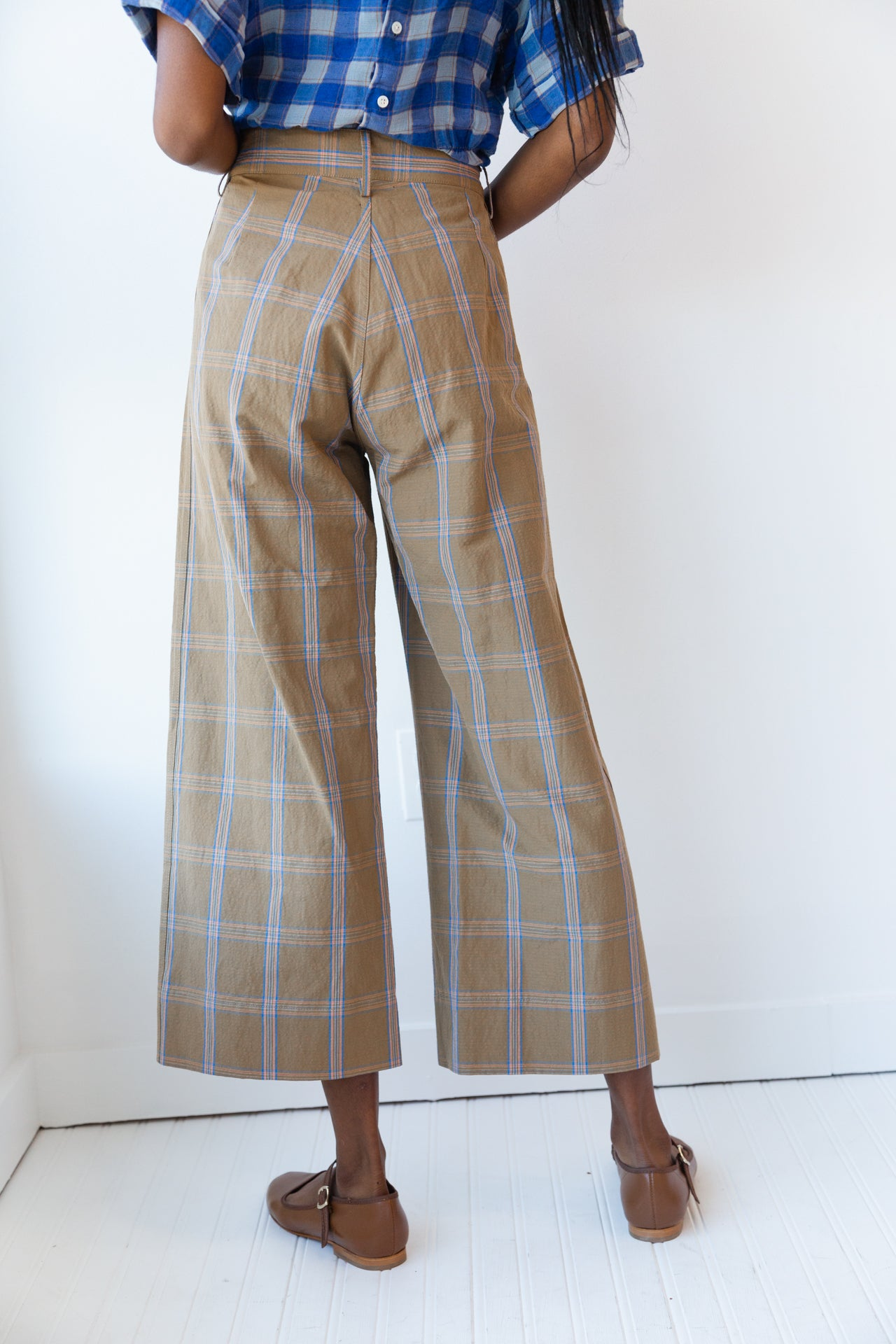 STEWART PANT | MUSTARD WINDOWPANE PLAID