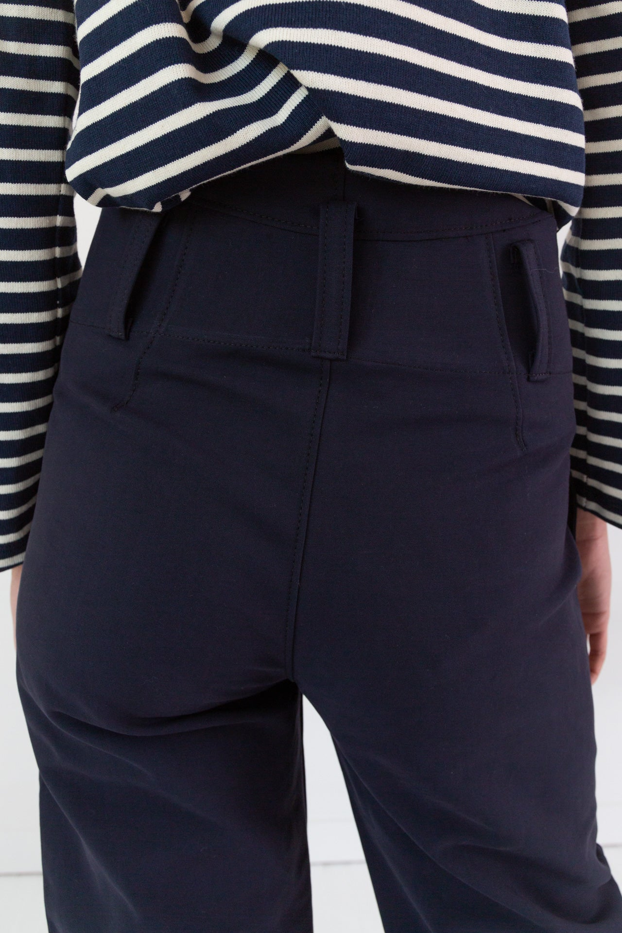 TIMOTHY PANT | MIDNIGHT NAVY DOUBLE FACE COTTON