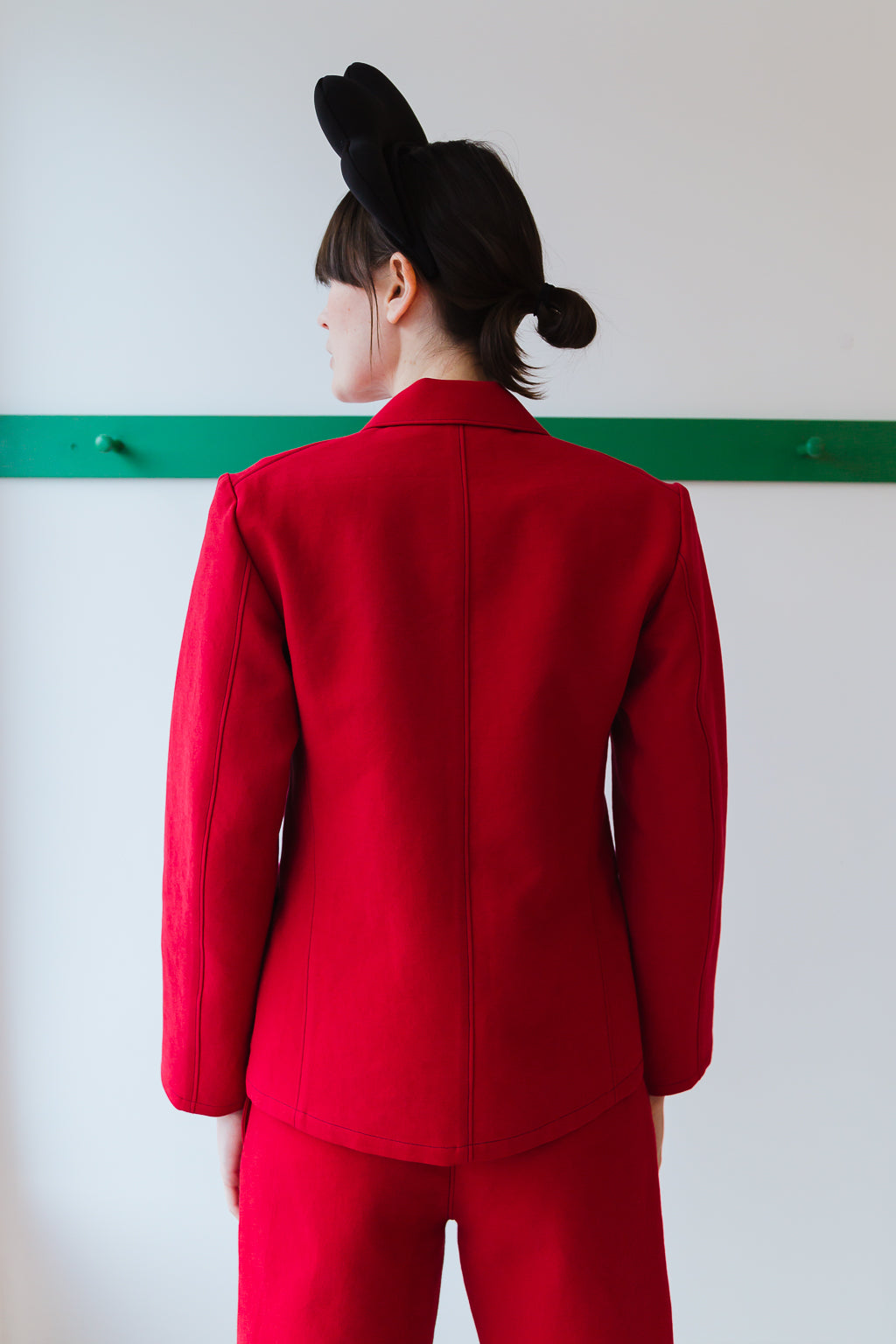 TOMO JACKET | CRIMSON DOUBLE FACE COTTON