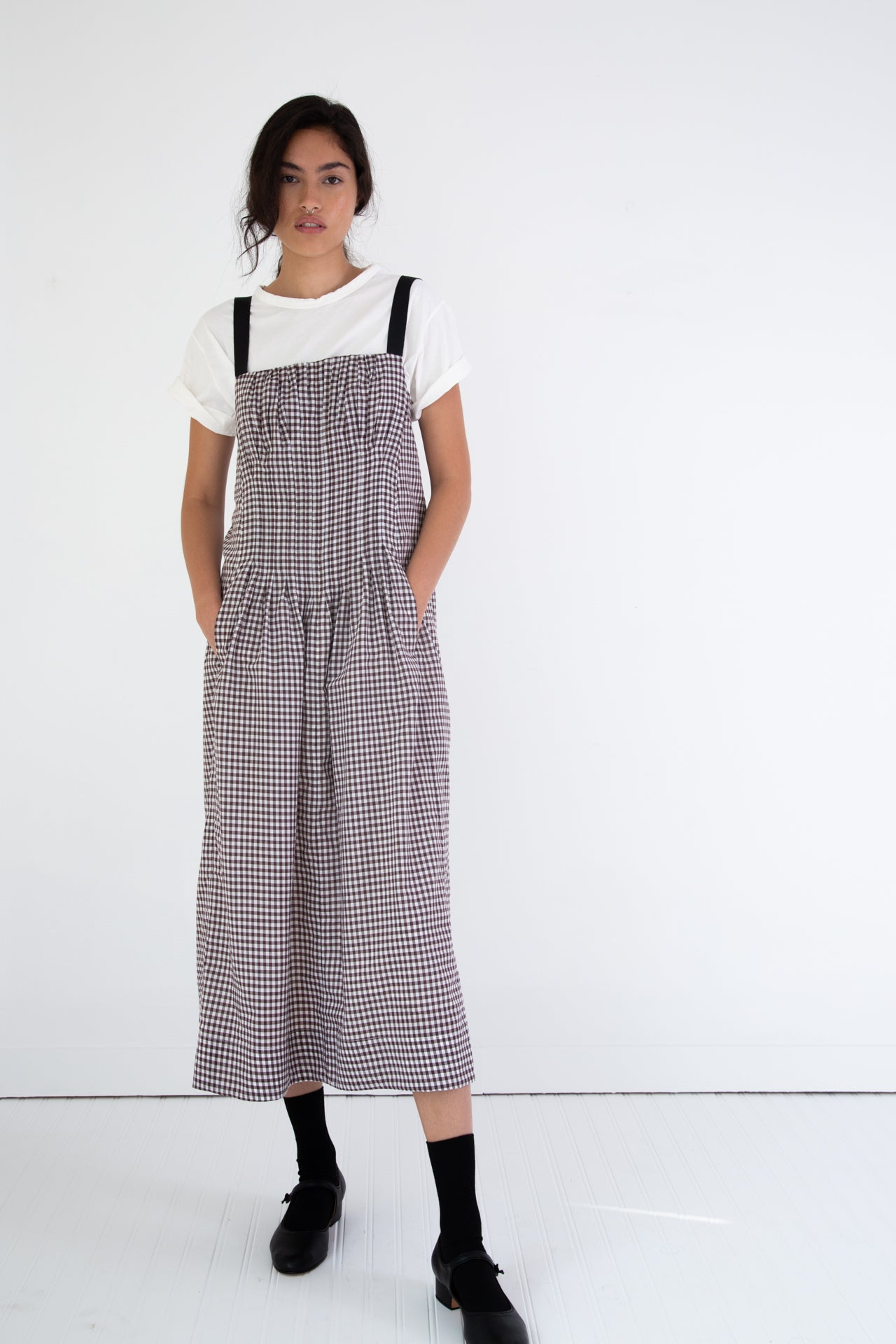VIRGINIA DRESS | BROWN GINGHAM