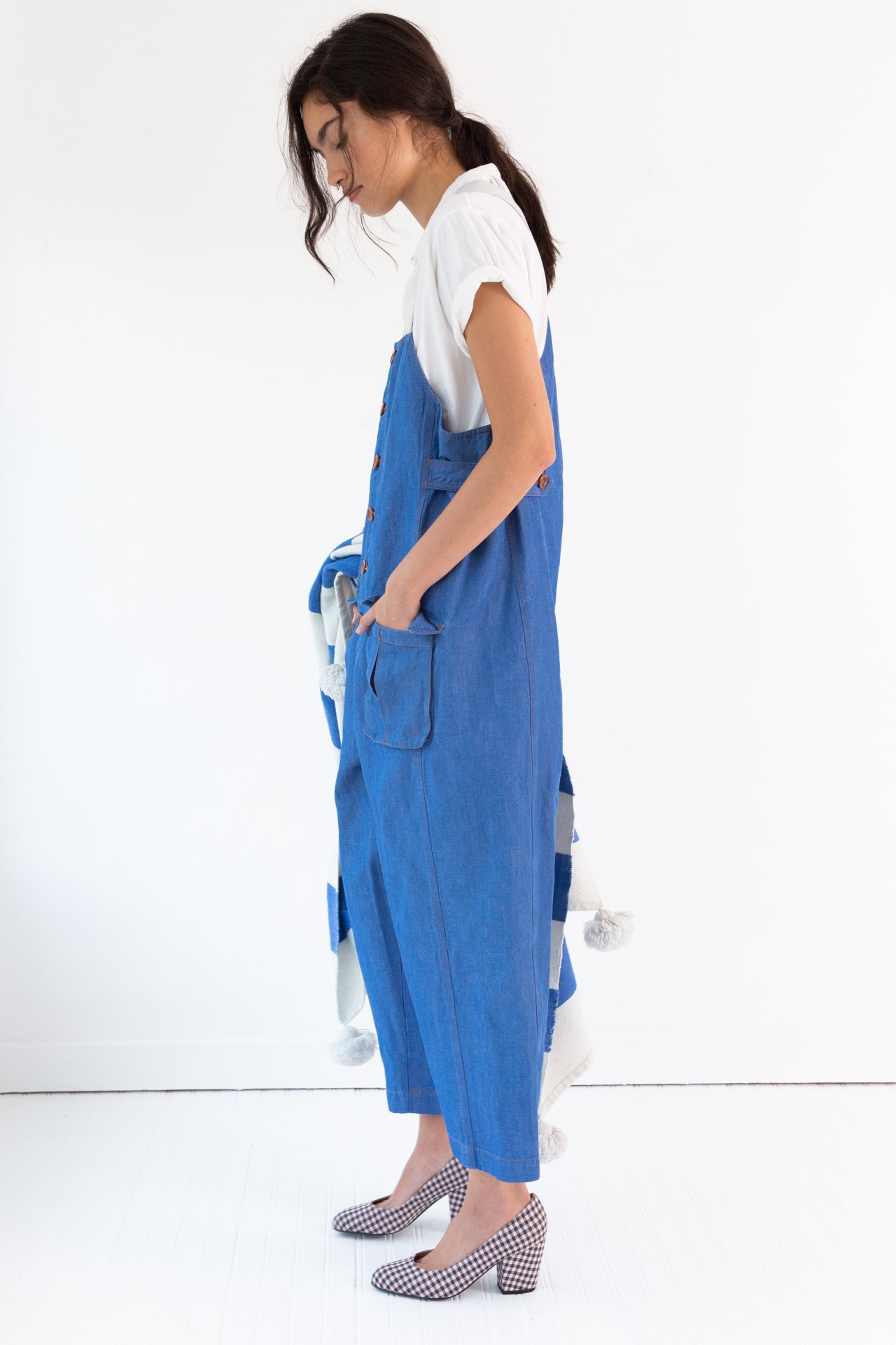 WADE JUMPSUIT | BLUE DENIM