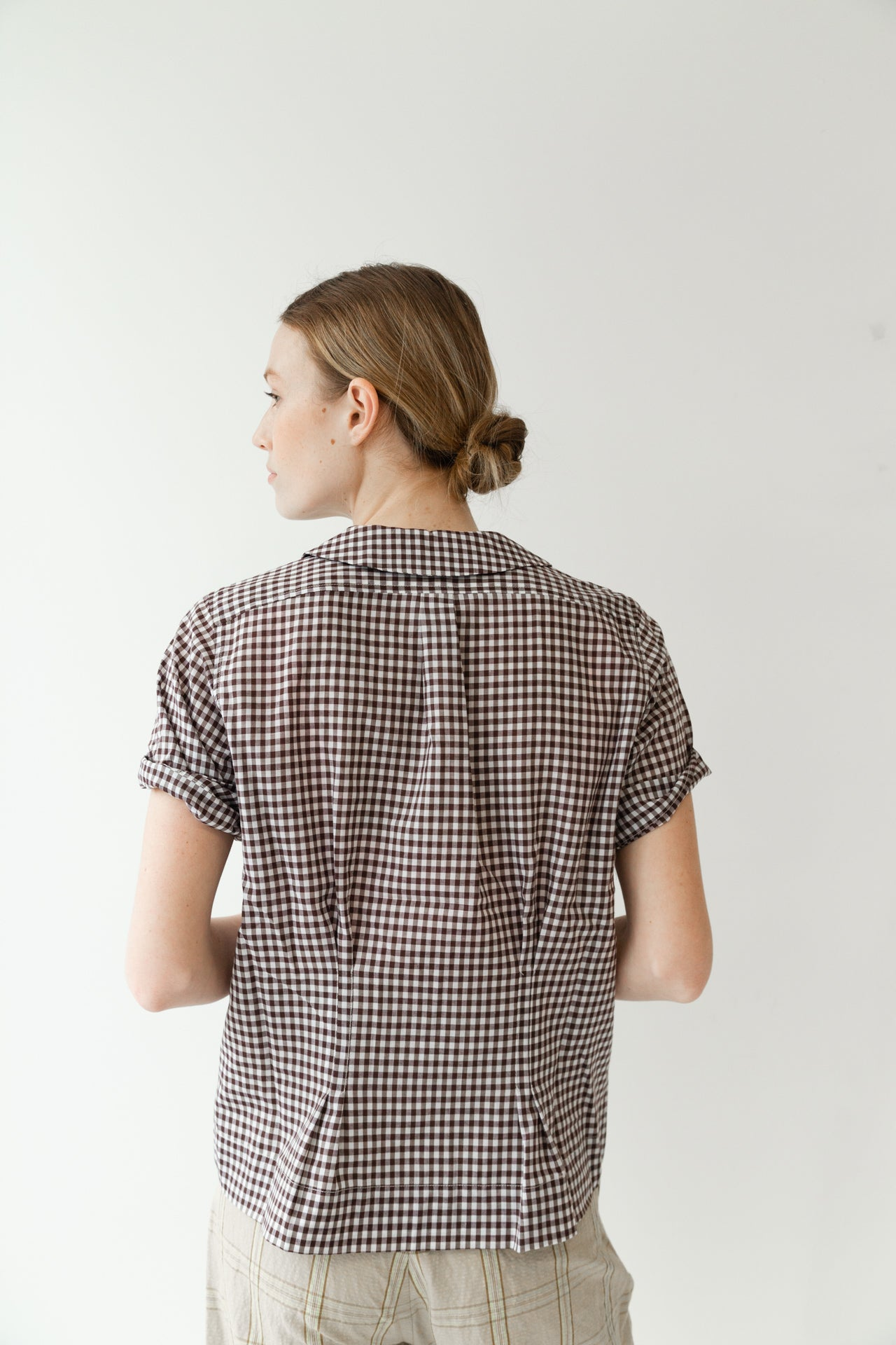 WESTLEY TOP | BROWN GINGHAM