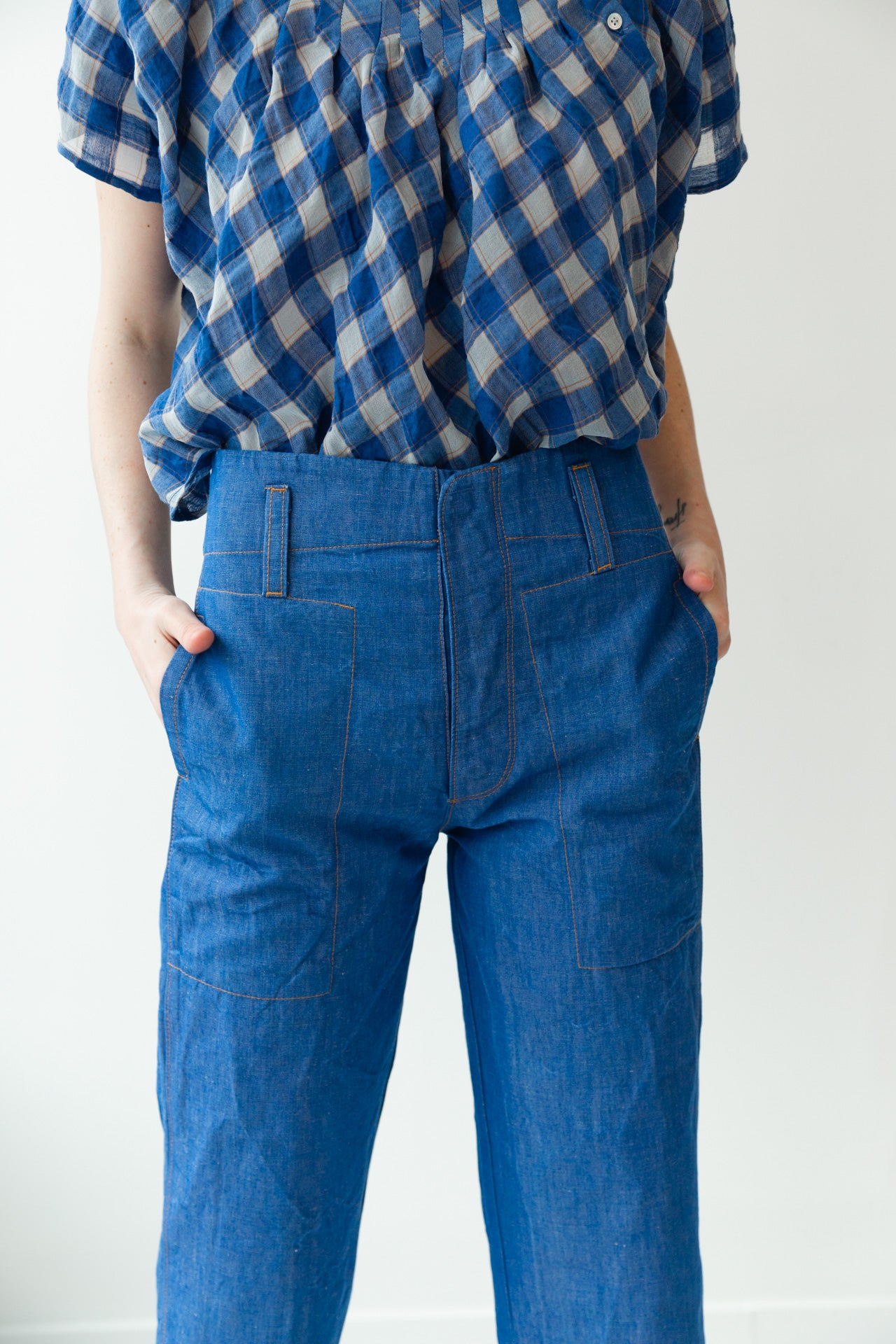 TIMOTHY PANT | JAPANESE BLUE DENIM