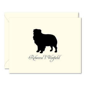 Dog Silhouette Personalized Note Cards