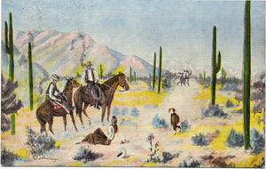 Cowboys & Western Vintage Postcards