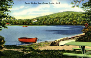 Center Harbor Bay New Hampshire Rowboats Vintage Postcard (unused) - Vintage Postcard Boutique