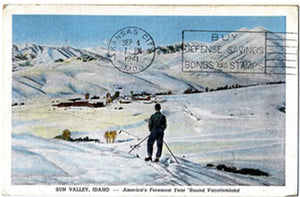 Sun Valley Idaho Ski Vacationland Postcard 1941 - Vintage Postcard Boutique