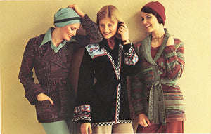 Fashion Show 1970s Belted Sweaters Vintage Postcard 1976