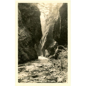 Oneonta Gorge Columbia River Highway Oregon RPPC Vintage Postcard signed SAWYER - Vintage Postcard Boutique
