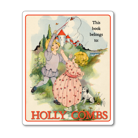 Vintage Fairy Tale Personalized Bookplates - Babes in the Woods - Baby Shower Gift - Vintage Postcard Boutique