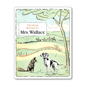 Fox and Hound Vintage Personalized Bookplates - Children's Books - Vintage Postcard Boutique