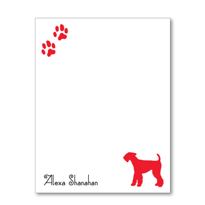 Paw Prints Personalized Dog Breed Mini Note Pads (6 colors) - Vintage Postcard Boutique