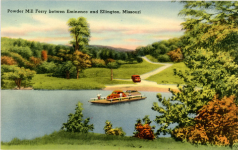 Eminence & Ellington Missouri Powder Mills Ferry Vintage Postcard (unused) - Vintage Postcard Boutique