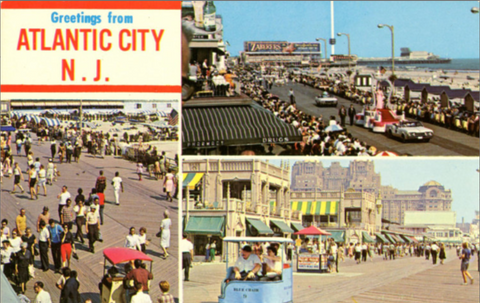 Atlantic City New Jersey Boardwalk Multi View Vintage Postcard (unused) - Vintage Postcard Boutique