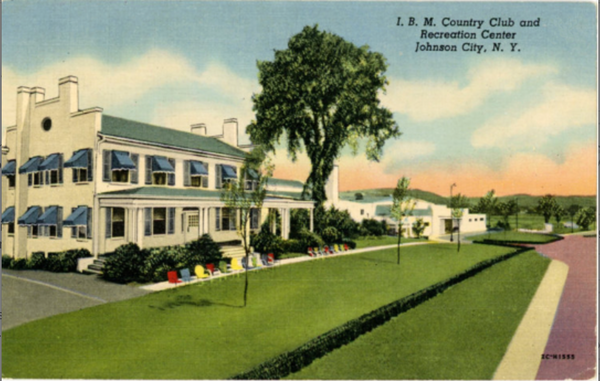 Johnson City New York I.B.M. Country Club & Recreation Center Vintage Postcard 1955 - Vintage Postcard Boutique