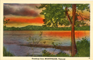 Montpelier Vermont Sunset Vintage Postcard (unused) - Vintage Postcard Boutique