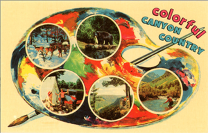 Pennsylvania Canyon Country Multi View Chrome Greetings Postcard (unused) - Vintage Postcard Boutique