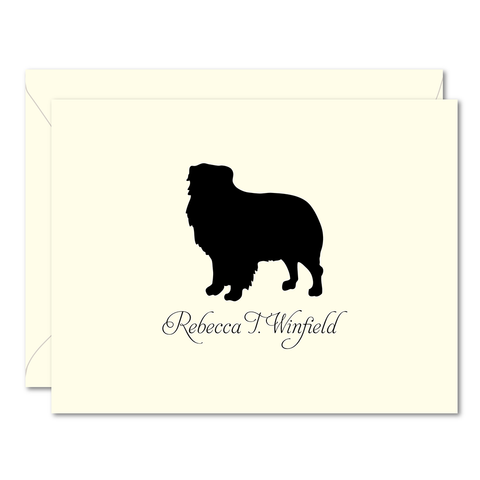 Ivory Dog Breed Personalized Foldover Note Cards - Vintage Postcard Boutique