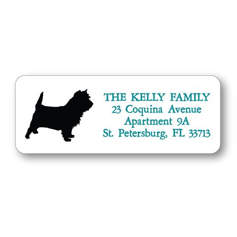 Simple Silhouettes Dog Breed Address Labels (6 colors) - Vintage Postcard Boutique