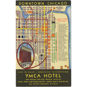 Downtown Chicago Tourist Map on