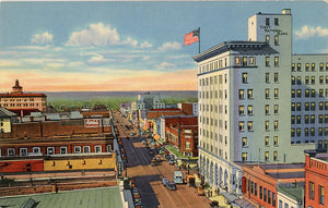 Albuquerque New Mexico Central Avenue Looking West Vintage Postcard 1940s (unused) - Vintage Postcard Boutique