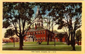 Annapolis Maryland State Capitol Vintage Postcard (unused) - Vintage Postcard Boutique