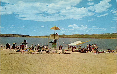 Flaming Gorge Utah Antelope Swim Beach Vintage Postcard (unused) - Vintage Postcard Boutique