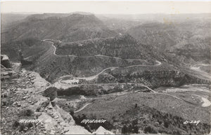 Highway 60 Panoramic Overview Arizona RPPC Vintage Postcard circa 1940s - Vintage Postcard Boutique