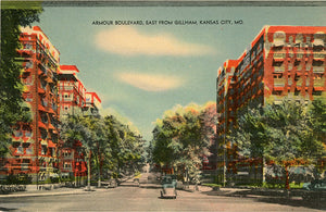 Kansas City Missouri Armour Boulevard Vintage Postcard 1946 - Vintage Postcard Boutique