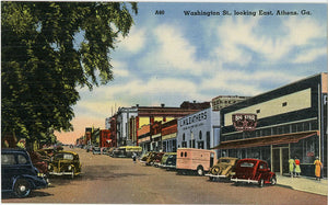 Athens Georgia Washington Street Looking East Vintage Postcard (unused) - Vintage Postcard Boutique