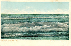Atlantic City New Jersey Surf Vintage Postcard 1905 (unused)