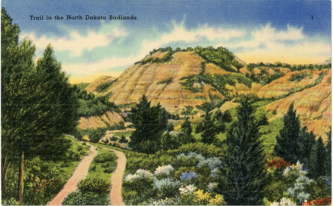 Badlands National Park North Dakota Strata Butte Vintage Postcard (unused) - Vintage Postcard Boutique