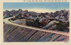 Badlands National Monument Lands That Time Forgot South Dakota Vintage Postcard (unused) - Vintage Postcard Boutique
