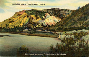 Big Rock Candy Mountain U.S. Highway 89 Southern Utah Vintage Postcard 1949 - Vintage Postcard Boutique