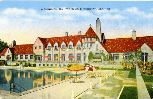 Birmingham Alabama Country Club Pool in Shades Valley Vintage Postcard (unused) - Vintage Postcard Boutique