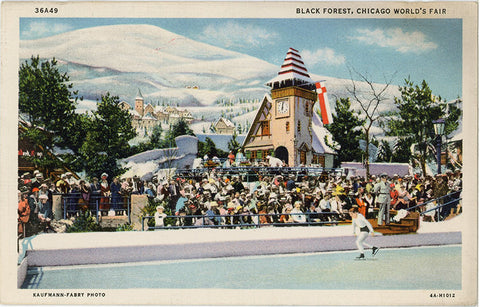 Black Forest Chicago World's Fair Ice Skating Pond Illinois Vintage Postcard (unused) - Vintage Postcard Boutique