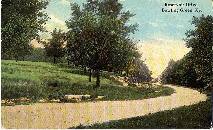 Bowling Green Kentucky Reservoir Drive Vintage Postcard (unused) - Vintage Postcard Boutique