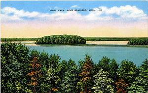 Brainerd Minnesota Gull Lake Vintage Postcard (unused) - Vintage Postcard Boutique