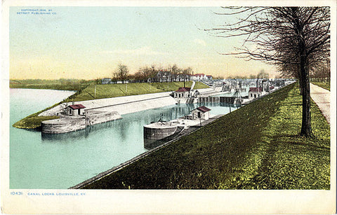 Louisville Kentucky Canal Rocks Vintage Postcard 1906 (unused) - Vintage Postcard Boutique
