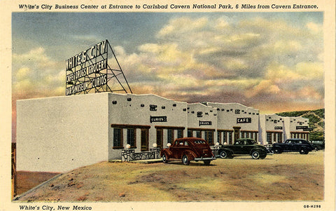Carlsbad Cavern National Park White's City Business Center New Mexico Vintage Postcard (unused)