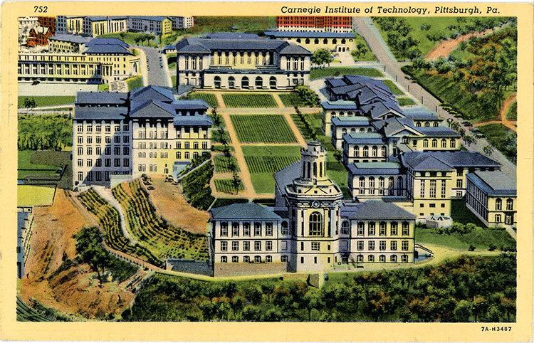 Carnegie Institute of Technology Pittsburgh Pennsylvania Vintage Postcard 1945 - Vintage Postcard Boutique