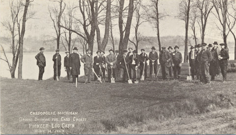 Cassopolis Michigan Ground Breaking Cass County Vintage Postcard 1923 (unused) - Vintage Postcard Boutique