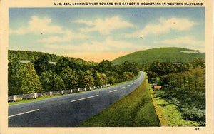 Catoctin Mountains Maryland U.S. 40A Highway Vintage Postcard (unused) - Vintage Postcard Boutique