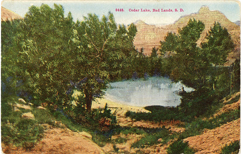 Badlands National Monument South Dakota Cedar Lake Vintage Postcard (unused) - Vintage Postcard Boutique