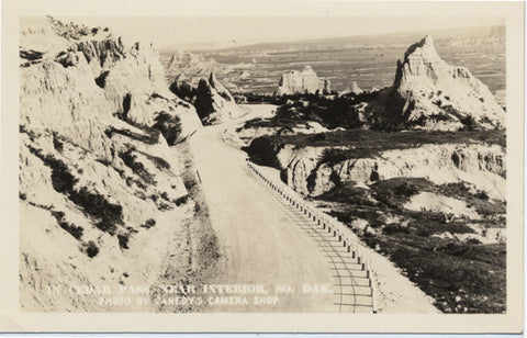 Cedar Pass South Dakota Near Interior Badlands RPPC Vintage Postcard - Vintage Postcard Boutique